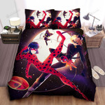 Ladybug & Cat Noir With Tikki And Plagg Bed Sheets Spread Duvet Cover Bedding Sets