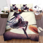 Halloween, Witch, Long Hairs Witch On Broom Bed Sheets Spread Duvet Cover Bedding Sets