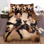 Halloween, Witch, Witches Family Bed Sheets Spread Duvet Cover Bedding Sets