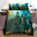 Halloween, Witch, After Harvesting Bed Sheets Spread Duvet Cover Bedding Sets