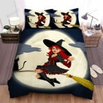 Halloween, Witch, Hello From Witch Bed Sheets Spread Duvet Cover Bedding Sets