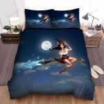 Halloween, Witch, The Smile Of Black Witch Bed Sheets Spread Duvet Cover Bedding Sets