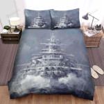 Frigate, The Watercolor Art Bed Sheets Spread Duvet Cover Bedding Sets