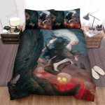 Halloween, Witch, Hiding The Old Witch Bed Sheets Spread Duvet Cover Bedding Sets