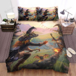 Halloween, Witch, The Racer Witches Bed Sheets Spread Duvet Cover Bedding Sets
