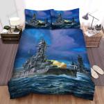 Frigate, Battle In The Ocean Art Bed Sheets Spread Duvet Cover Bedding Sets