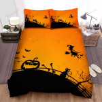 Halloween, Witch, The Orange Sky Art Bed Sheets Spread Duvet Cover Bedding Sets