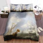 Frigate, The Old Ship Art Bed Sheets Spread Duvet Cover Bedding Sets