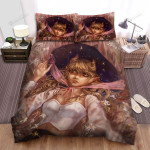 Halloween, Witch, Junior Witch Lying Art Bed Sheets Spread Duvet Cover Bedding Sets