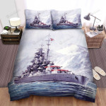 Frigate, Through The Ice Field Bed Sheets Spread Duvet Cover Bedding Sets