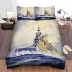 Frigate, Paint Of The Ship Bed Sheets Spread Duvet Cover Bedding Sets