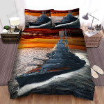 Frigate, The Lonely Ship Art Bed Sheets Spread Duvet Cover Bedding Sets