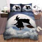 Halloween, Witch, Follow The Bats Art Bed Sheets Spread Duvet Cover Bedding Sets
