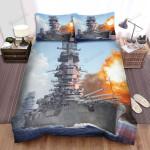 Frigate, Japan Frigate Art Bed Sheets Spread Duvet Cover Bedding Sets