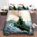 Frigate, The Green Ship Bed Sheets Spread Duvet Cover Bedding Sets