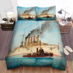 Frigate, The Steam Punk Ship Bed Sheets Spread Duvet Cover Bedding Sets