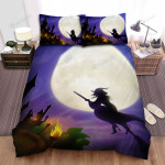 Halloween, Witch, Come Back The Castle Art Bed Sheets Spread Duvet Cover Bedding Sets