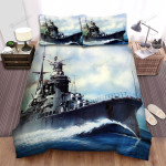 Frigate, Navy Force Art Bed Sheets Spread Duvet Cover Bedding Sets