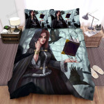Halloween, Witch, Witch In Her Hood Bed Sheets Spread Duvet Cover Bedding Sets