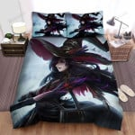 Halloween, Witch, In Her Battle Bed Sheets Spread Duvet Cover Bedding Sets