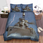 Frigate, Thunder At Sea Bed Sheets Spread Duvet Cover Bedding Sets