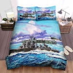 Frigate, Moving On The Ocean Bed Sheets Spread Duvet Cover Bedding Sets
