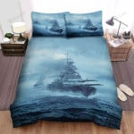 Frigate, Battle Ship Moving Fast Bed Sheets Spread Duvet Cover Bedding Sets