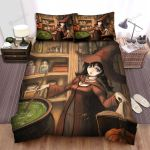 Halloween, Witch, Green Liquid Of The Beauty Bed Sheets Spread Duvet Cover Bedding Sets