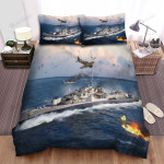 Frigate, Knock Down Air Force Bed Sheets Spread Duvet Cover Bedding Sets