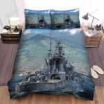 Frigate, Behind The Ship Bed Sheets Spread Duvet Cover Bedding Sets