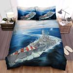 Frigate, Italian Navy Ship Bed Sheets Spread Duvet Cover Bedding Sets