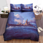 Frigate, Surfing On The Wave Art Bed Sheets Spread Duvet Cover Bedding Sets