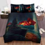Frigate, Battle At Night Bed Sheets Spread Duvet Cover Bedding Sets