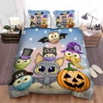 Halloween The Owl And The Cosplayer, Bed Sheets Spread Duvet Cover Bedding Sets