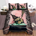 Halloween Owl The Witch Cooking His Formula Bed Sheets Spread Duvet Cover Bedding Sets