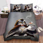 Halloween The Smoker Owl Witch, Bed Sheets Spread Duvet Cover Bedding Sets