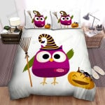 Halloween Owl Witch Clipart Pumpkin, Bed Sheets Spread Duvet Cover Bedding Sets