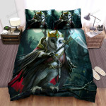Halloween The Wizard Owl Doing Magical Spell, Bed Sheets Spread Duvet Cover Bedding Sets