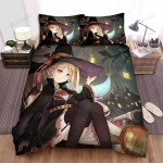 Halloween, Witch, Illustration Of The Young Witch Bed Sheets Spread Duvet Cover Bedding Sets