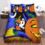 Halloween Jack-O-Lantern Digital Illustration Bed Sheets Spread Duvet Cover Bedding Sets