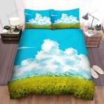 Sunflower Field Blue Sky Clouds Bed Sheets Spread Comforter Duvet Cover Bedding Sets