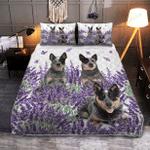 Australian Cattle Lavender Bed Sheets Bedspread Duvet Cover Bedding Set