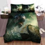 Sea Monster, Jumping Fish Bed Sheets Spread Duvet Cover Bedding Sets