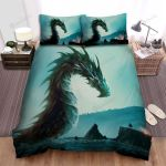 Sea Monster, The Dragon And Warrior Bed Sheets Spread Duvet Cover Bedding Sets