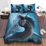 Sea Monster, Giant Cobra Bed Sheets Spread Duvet Cover Bedding Sets