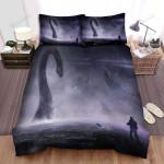 Sea Monster, Capture Long Neck Animal Art Bed Sheets Spread Duvet Cover Bedding Sets