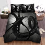 Sea Monster, Black Monster Art Bed Sheets Spread Duvet Cover Bedding Sets