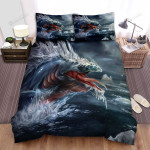 Sea Monster, The Ice Eel Bed Sheets Spread Duvet Cover Bedding Sets