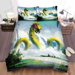 Sea Monster, Green Venom Bed Sheets Spread Duvet Cover Bedding Sets