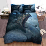 Sea Monster, Swimming Away Bed Sheets Spread Duvet Cover Bedding Sets